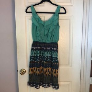 Mossimo print dress with ruffles